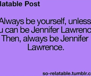 Jennifer Lawrence, quote, and book image
