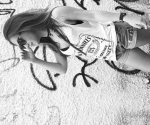 beach, bikini, and black and white image