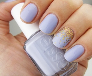 nails, essie, and purple image