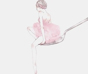 pink, ballet, and art image