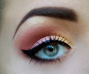 colorful, eyes, and makeup image