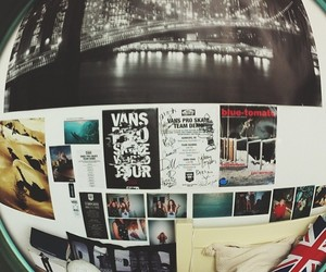 golden gate, new york, and vans image
