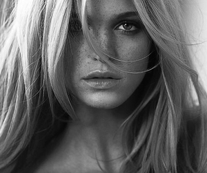 black and white, model, and beauty image