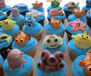 cupcake, nemo, and food image