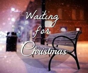 christmas, snow, and waiting image
