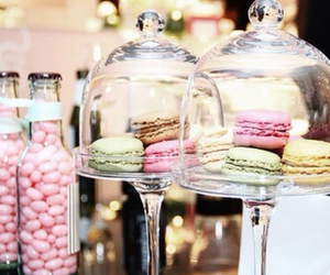 girly, macaroons, and pink image