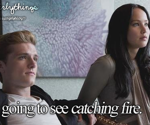 catching fire, hunger games, and peeta image
