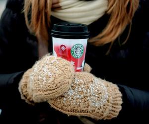 starbucks, winter, and coffee image
