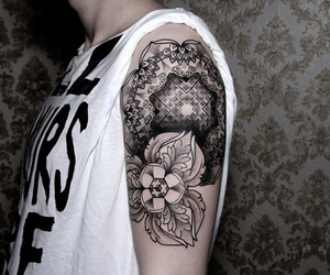 tattoo, chaim machlev, and dots to lines image