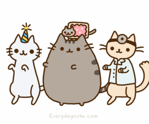 cat, pusheen, and dance image