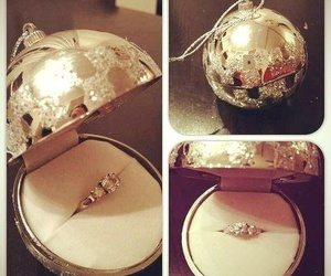 ring, christmas, and wedding image