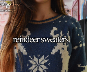 winter, sweater, and christmas image