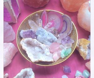 crystal, pastel, and pink image