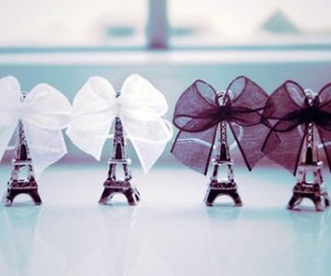 black & white, ribbons, and Towers image