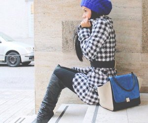 awesome, beanie, and blue image