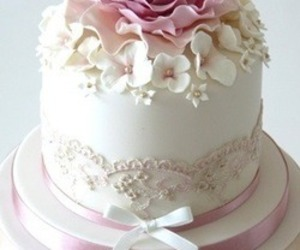 cake, classy, and flowers image
