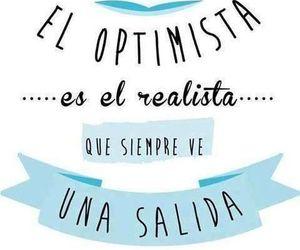 optimista, vida, and frases español image