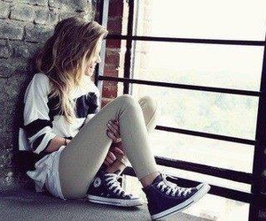 girl and converse image