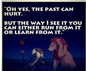 quote, disney, and past image