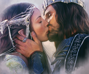 love, aragorn, and arwen image