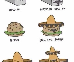 mexican, funny, and sombrero image