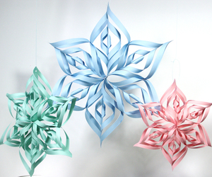 paper craft and 3d snowflake image