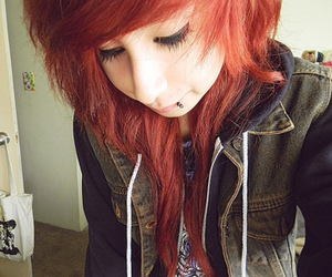 girl, octokathyy, and red hair image