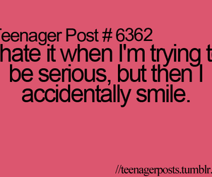 teenager post, smile, and serious image