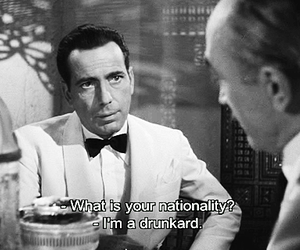 black and white, quotes, and Casablanca image
