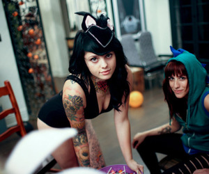 tattoo, girl, and radeo suicide image