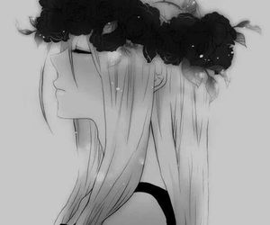 black and white, flowers, and reiss image
