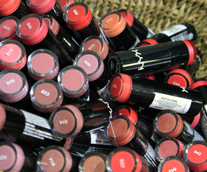 lipstick, NYX, and pink image