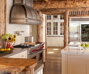 interior, kitchen, and wood image