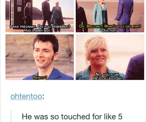 baby, david tennant, and doctor who image
