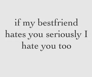 quotes, hate, and bestfriend image