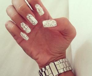 glitter, nail, and polish image