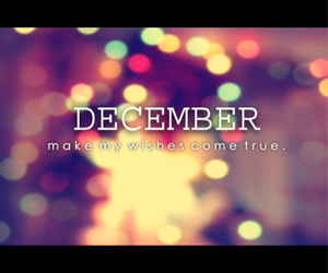 december, true, and wish image