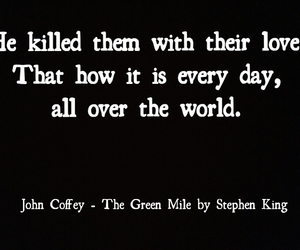 the green mile, john coffey, and Stephen King image
