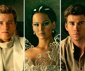 peeta, katniss, and gale image