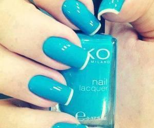 azul, fashion, and nail art image