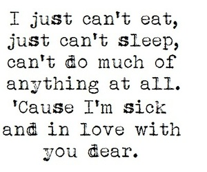 Lyrics, love, and in love image