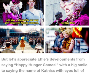 katniss everdeen, effie trinket, and Elizabeth Banks image