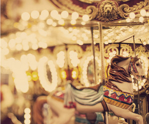 carousel, light, and horse image