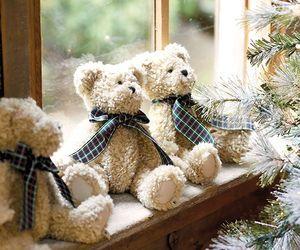 christmas, bear, and snow image