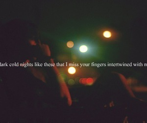 love, night, and fingers image