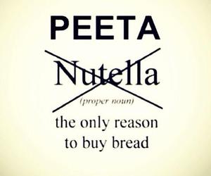 peeta, nutella, and hunger games image