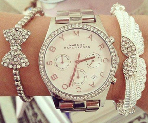 girly, luxury, and watch image