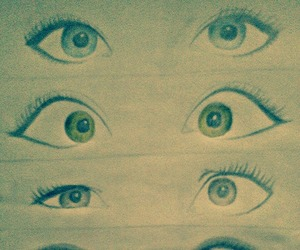 drawing, eyes, and cute image