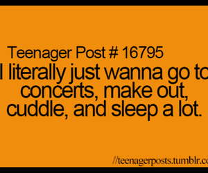 concerts, cuddling, and making out image