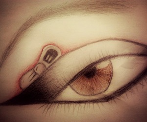 bow, drawing, and eye image